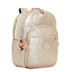 Kipling Backpack Dourada Seoul Go - Gold Metallic