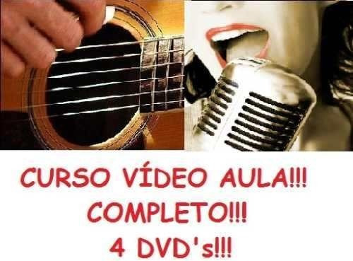 Aulas De Violão + Canto Curso Em 4 Dvds E2j