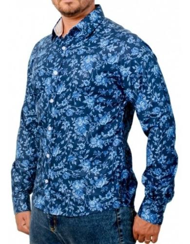 Camisa Exclusiva Estampada: Flores Azul - Fiori Blu Ii 2-m