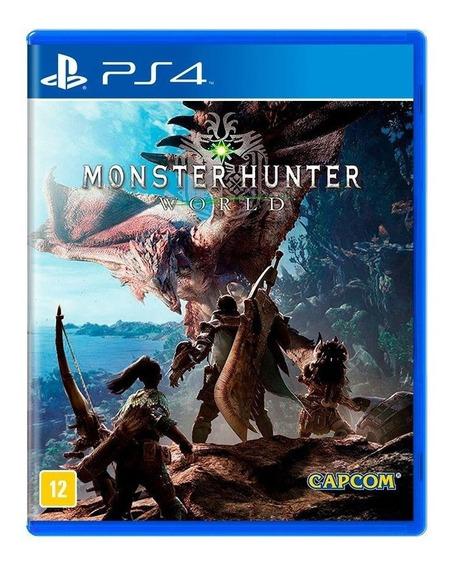Monster Hunter World Ps4 Mídia Física Novo Lacrado