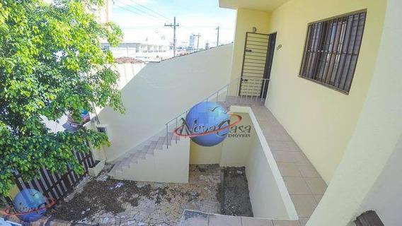 Casa Com 3 Dormitórios Para Alugar, 180 M² Por R$ 1.500,00/mês - Vila Guilhermina - Praia Grande/sp - Ca3618