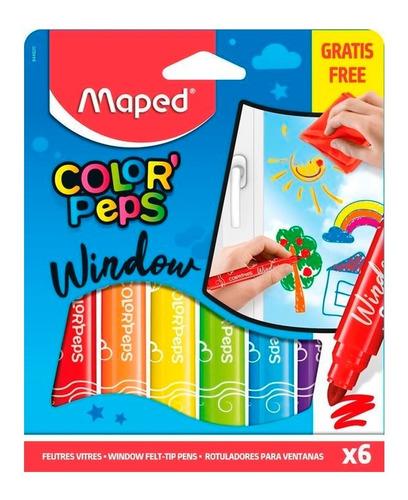 Marcadores Para Vidrio Maped Color Peps Window X6 Educando