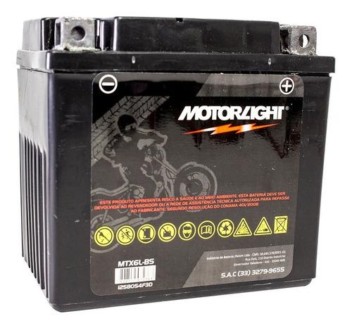 Imagem 1 de 5 de Bateria Honda Biz 125 Es 125+ - Motorlight 5ah Mtx6l-bs