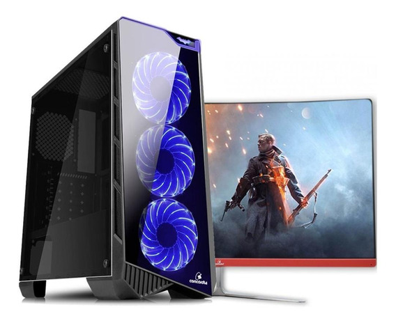 Pc Gamer + Monitor 27 I7 8º 16gb Hd 1tb 120gb Gtx1650 Wifi