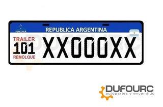 Patente 101 Trailer Remolque Chapa Ploteada P/armar Mercosur