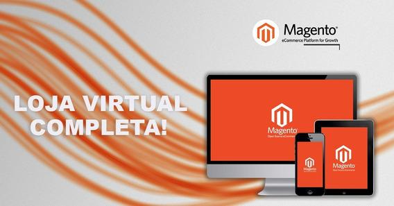 Loja Virtual Magento - Layout Personalizado, Pronta P/vendas