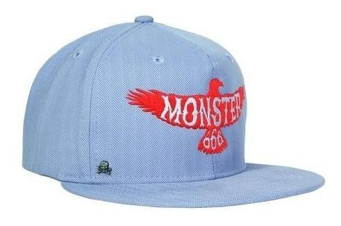 Gorra Plana Monster 666 Azul Claro