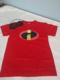 Camiseta Dos Incríveis Infantil C/ Máscara Brinde!!!