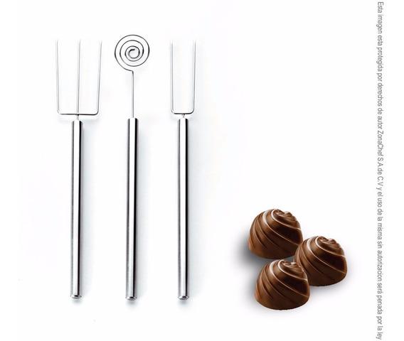 Set 3 Utensilios Para Chocolates Y Bombones