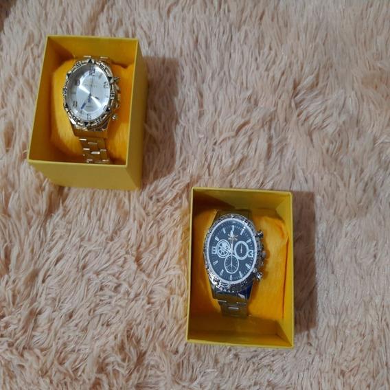 Relógio Masculino Excelente Mais Brinde Frente Grátis