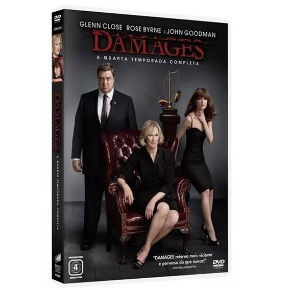 Seriado Damages 4ª Temporada 3 Discos Dvd - Original
