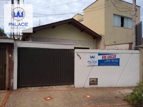 Casa Com 3 Dormitórios Para Alugar, 145 M² Por R$ 1.300,00/mês - Centro - Piracicaba/sp - Ca0797