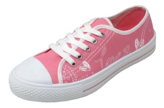 Tenis Para Dama Rosas Hc-4006