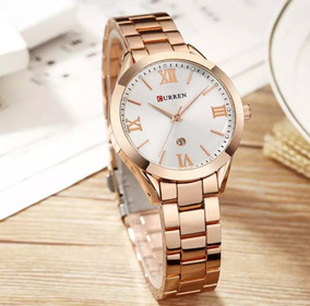 Relógio Feminino Rose De Luxo Curren 9007 Quartz Original