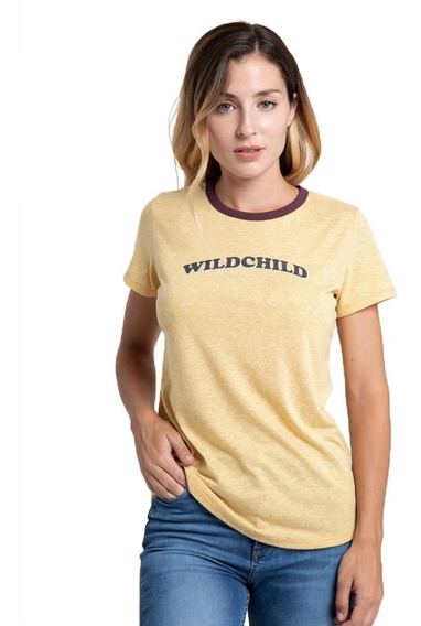 Remera Mujer Rusty Wildchild Mostaza