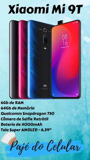 Xiaomi Mi 9t 6gb De Ram, 64gb, Camera Frontal Retrátil, Novo