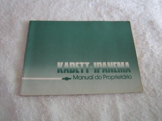 Manual Original Kadett/ipanema 90