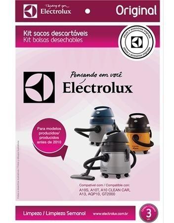 Kit Com 3 Unidades Saco Para Aspirador De Pó Electrolux