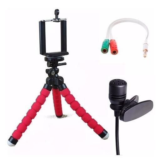 Kit Youtuber Master Gravação Celular Video Acessorios P3