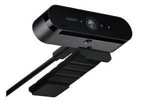 Webcam Logitech Brio Ultra Hd Microfone