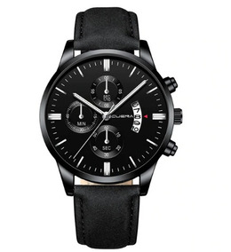 Relogio Masculino Watch Shaarma Pulseira Couro Simples
