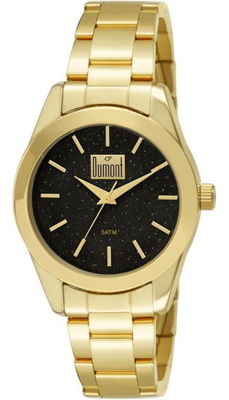 Relógio Feminino Dumont Elements Du2035lmy/4p Dourado