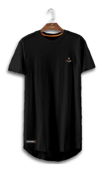 Camiseta Masculina Longline Oversized Journey Holy Âncora
