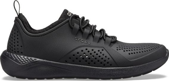 Zapato Crocs Infantil Literide Pacer K Negro