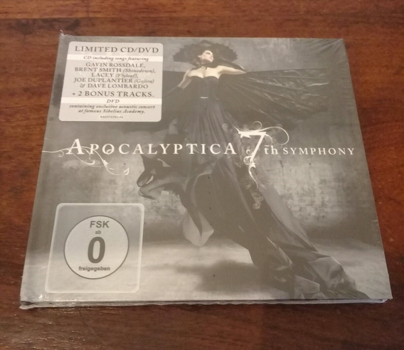 Dvd + Cd Apocayptica-7th Symphony.nightwish.tarja.therion