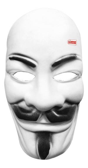 Máscara V De Vendetta Disfraz Halloween - Ciudad Cotillón