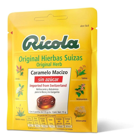 Dulces Ricola Original Sin Azúcar