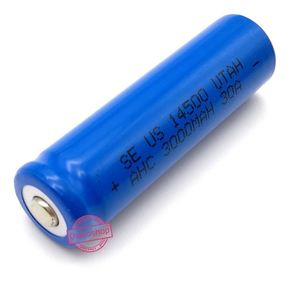 Bateria 14500 3,7v 5200mah Li-ion - Recarregável Menor Preço