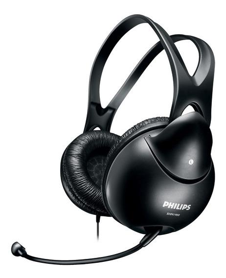 Fone Headset Shm1900 Philips Gamer Multimídia Com Microfone