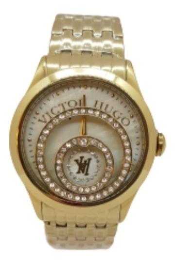 Relógio Feminino Dourado Victor Hugo - Vh10120lssg/54m