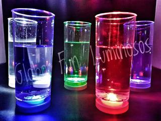 Vaso Luminoso Led 3 Secuencias Cotillón Luminoso Fluo