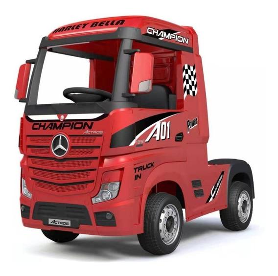 Mercedes Benz Camión Rojo A Batería Hl358 Rj Full