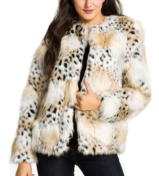 Campera Mujer Betsey Johnson Faux Fur Jacket Imperdible