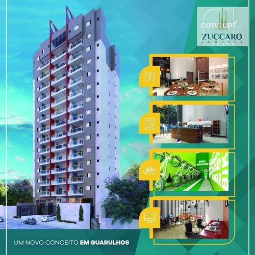 Apartamento Com 1 Dormitório À Venda, 37 M² Por R$ 259.000,00 - Vila Galvão - Guarulhos/sp - Ap11801