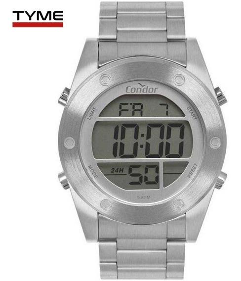 Relógio Condor Masculino Digital Cobj3463ad/3k Prateado Nfe