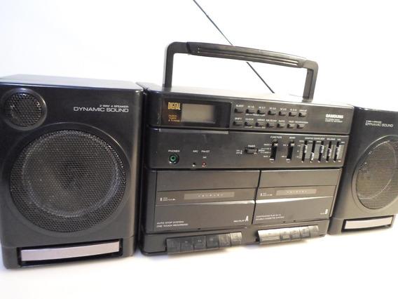 Sanssung Cassete Recorder Duplo K7 Am/fm (funcionando)