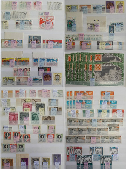Uruguay Importante Colección De 488 Sellos En Clasificador