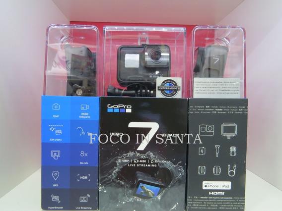 Câmera Gopro Hero 7 Black 12mp 4k60(1080p240)wi-fi Bluetooth