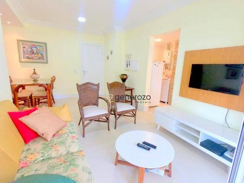 Imagem 1 de 16 de Apartamento Com 02 Dormitórios, 02 Vagas De Garagem, Praia Das Astúrias - Ap0443