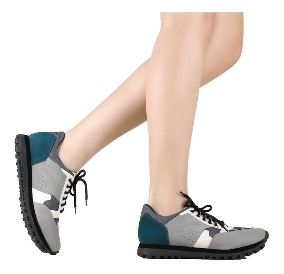 Tênis Zariff Shoes Jogging Cinza 7638-18776