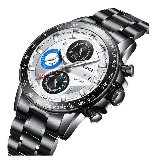 Lige Homens Relógio De Pulso De Quartzo Relógio Esportivo