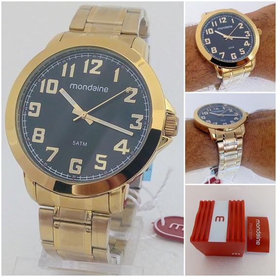 Relógio Mondaine Masculino Dourado Original Novo 12x Sem Juros Frete Grátis