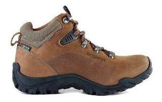 Bota Cuero Mujer Briganti Zapato Trekking Botita - Mcbo24926