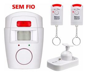 2x Alarme S/ Fio Residencial Pop Sensor Sirene = 4 Controles