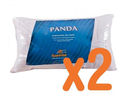 Imagen 1 de 3 de X2 Almohadas Suavestar Panda Fibra Vellon 44x70cm