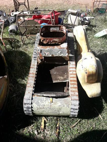 Tanque De Gerra Em Lata Antigo Decorativo